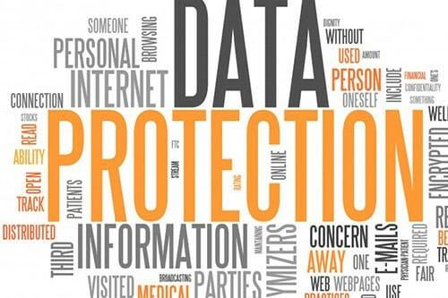 mapa słów ochrony danych
