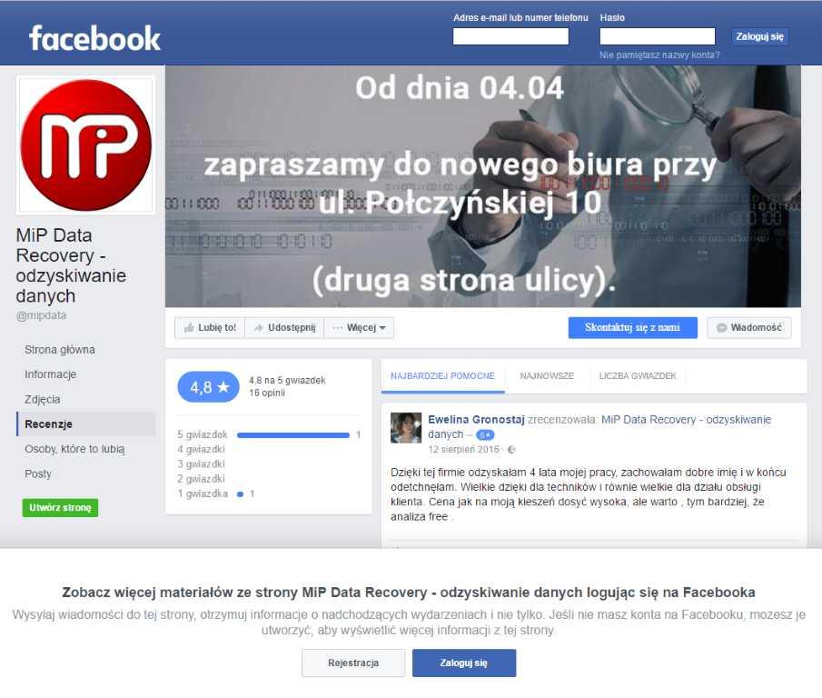 facebook - opinie